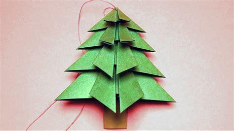 basteln f 252 r weihnachten tannenbaum falten youtube