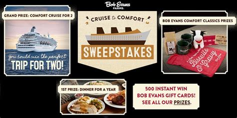 Bob Evans Cruise To Comfort Sweepstakes - bob evans cruise to comfort sweepstakes sweepstakesbible