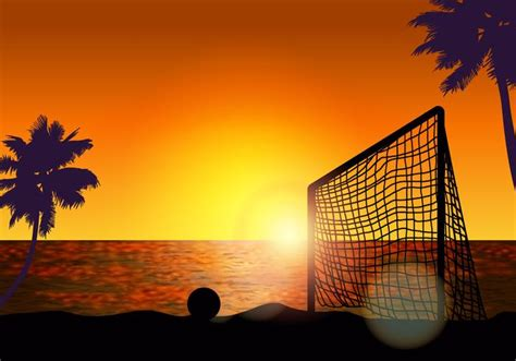 goal  beach soccer   vectors clipart