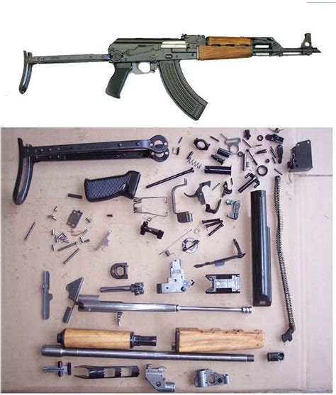 Yugoslavia yugo ak 47 underfolder parts kit for sale at gunauction com