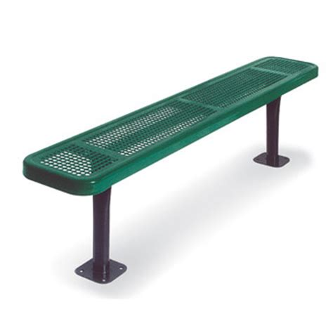 perforated metal bench 942 p6 6 perforated metal outdoor bench by ultra play systems