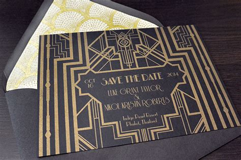 great gatsby invitations template best template collection