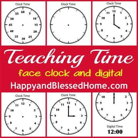 printable clock preschool tell time preschool learning happy and blessed home