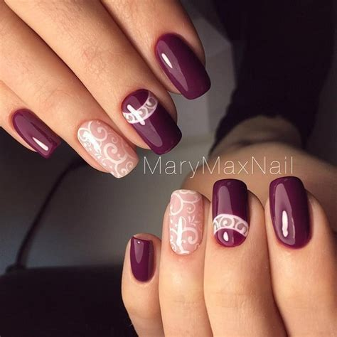 maroon color nails 35 maroon nails designs nenuno creative