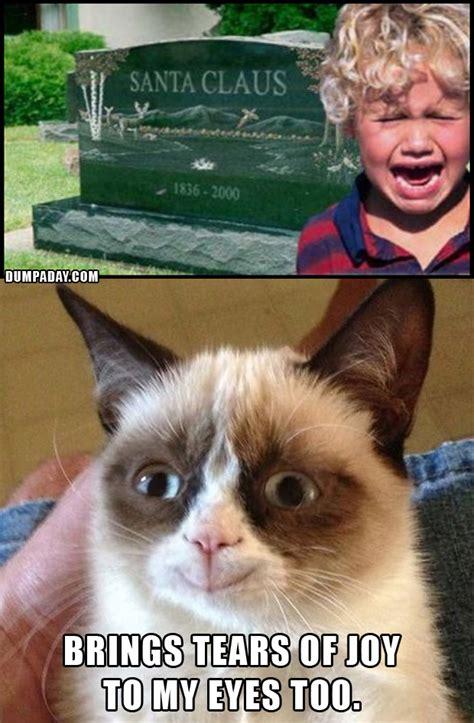 Grumpy Cat Meme Happy - grumpy cat christmas santa is dead what makes grumpy cat