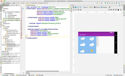 android layout landscape xml responsive ui tutorial for android