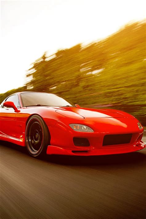 mazda 4s red mazda rx 7 fd supercar iphone wallpaper 640x960