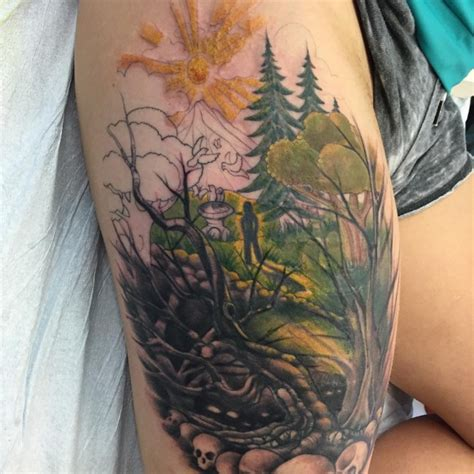 60 ash tree tattoos ideas ash tree on right thigh