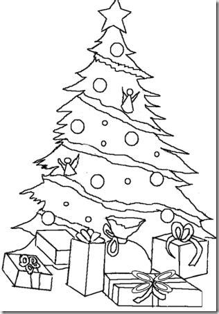 dibujos de navidad para pintar y colorear abetos 225 rbol