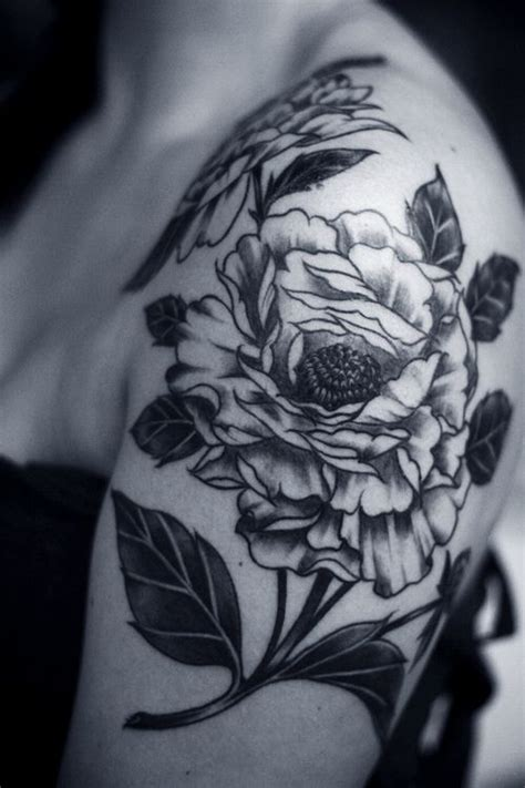 tattoo flower designs black and white 67 amazing black and white shoulder tattoos