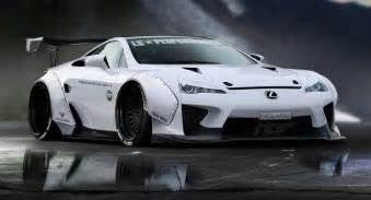 lexus lfa gets a liberty walk makeover