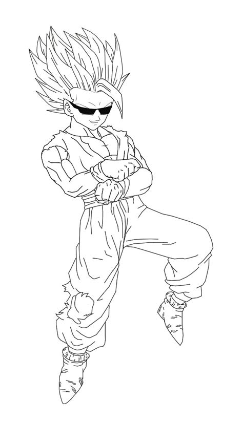 super saiyan 2 gohan coloring coloring pages