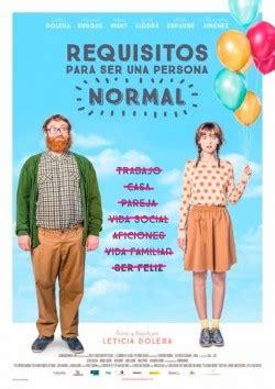 requisitos para ser una persona normal pelicula sinopsis