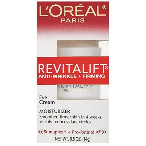 Loreal Revitalift Eye Anti Wrinkle Firming 10 best drugstore eye creams rank style