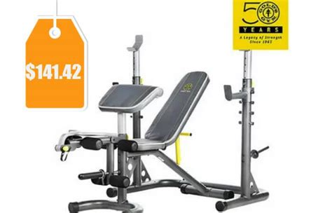 weight bench free shipping gold s gym xrs 20 olympic workout bench 141 42 orig