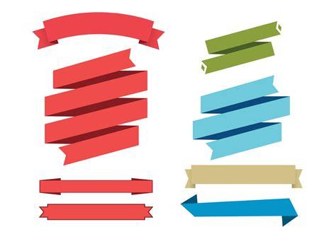 Set Ribon vector ribbon set free vector stock