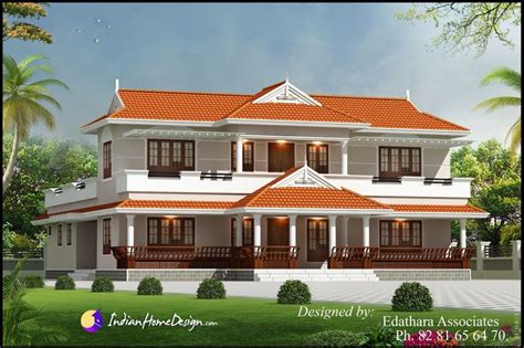 kerala style sqft villa design traditional double floor