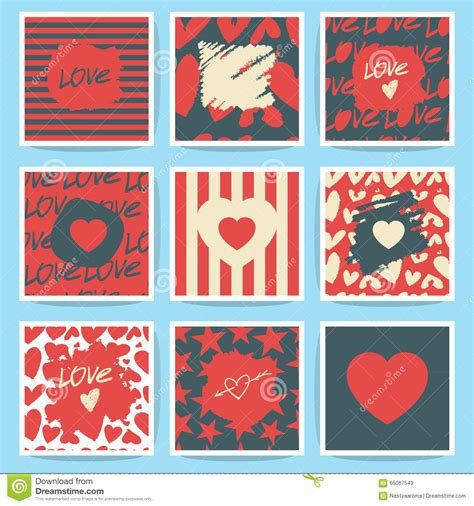 valentines sets happy valentines day icon set vector