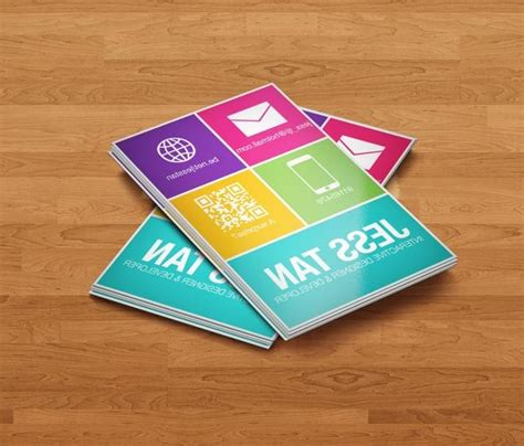 trifol business card template prodpi flat cards photo
