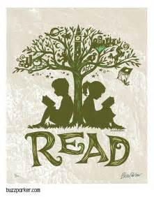 reading tree 8x10 art print every book an adventure