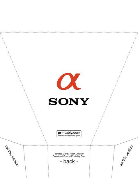 flash bounce card template bounce card flash diffuser for sony alpha printably