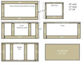 diy hanging garage storage shelves plans plans free