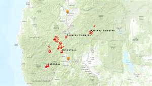 map of oregon fires responding to the oregon wildfires