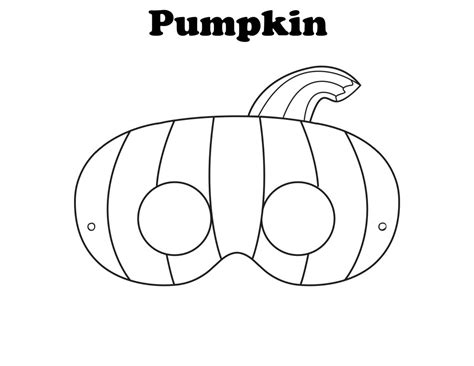 free printable halloween pumpkin mask ready to be
