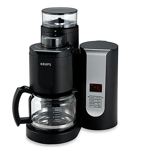 coffee grinder bed bath and beyond buy krups 174 duo filter 10 cup pro grinder brewer coffee