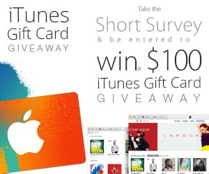 Itunes Gift Card Giveaway 2015 - win 100 itunes gift card enter online sweeps