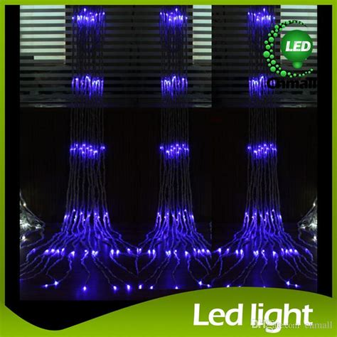 led waterfall curtain lights cheap led string led waterfall string curtain light 6m 3m