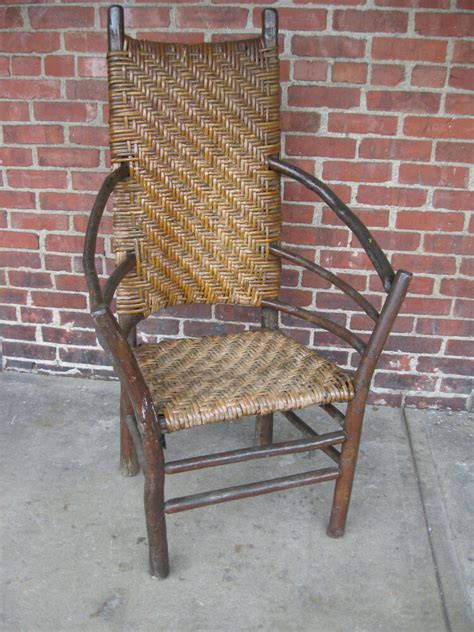 vintage  hickory large high  arm chair side chair