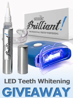 smile brilliant led teeth whitening kit review giveaway