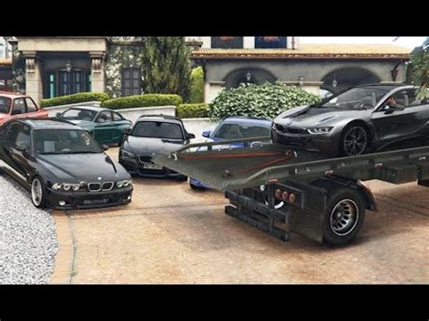 gta 5 real car mods my car collection youtube gta 5 bmw delivery michael s collection real car mods