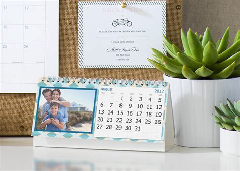 Personalized Desk Calendar Custom 2017 Desk Calendars Photo Desk Calendars Vistaprint