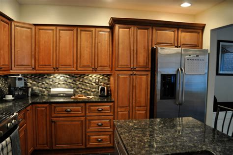 Kitchen Cabinets Rta marquis cinnamon kitchen with center island traditional