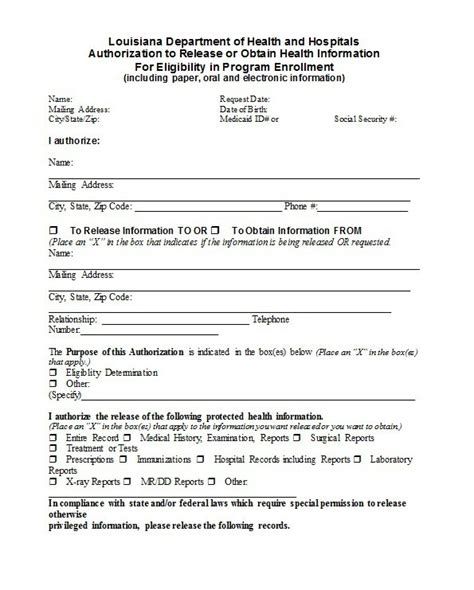 medical release form templates  template downloads