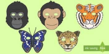 printable rainforest animal masks jungle rainforest role play masks jungle rainforest