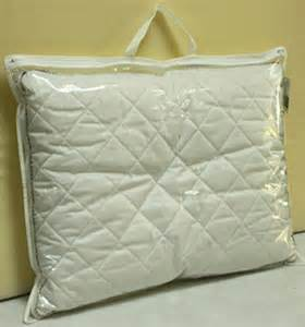 texpack clear plastic pillow bag with handle foldable