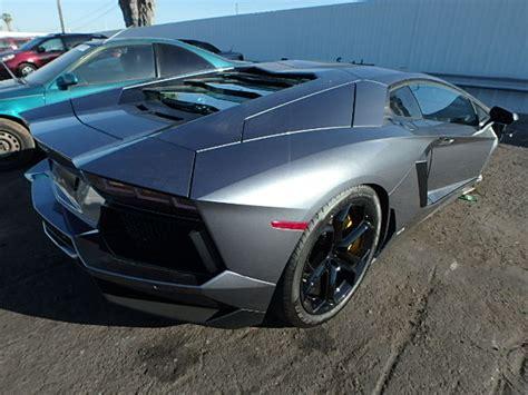 Salvage Lamborghini Aventador Auto Auction Ended On Vin Zhwuc1zd2cla00695 2012