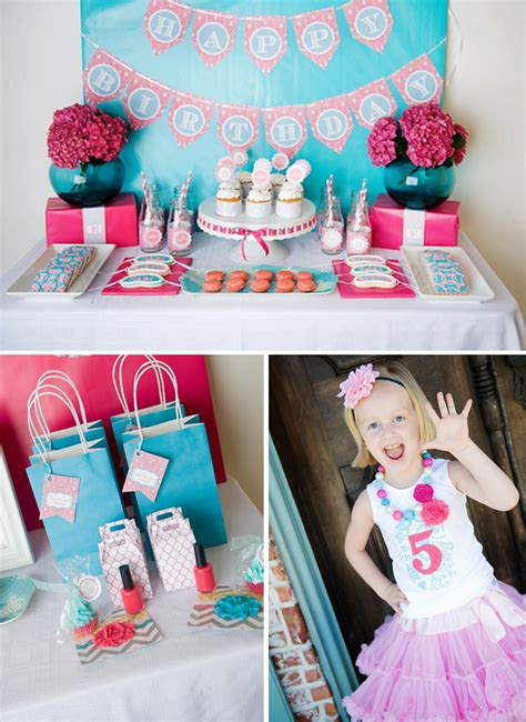 cute themes for birthday parties darling spa themed 5th birthday party pizzazzerie