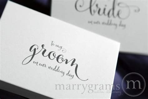 Wedding Card To Your Groom On Your (Our) Wedding Day