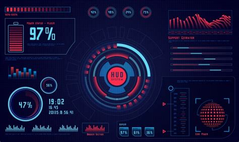 after effects template free iron man holographic future economics abstract hud graph vector premium download