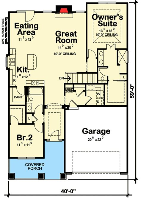 getaway floor plan plan 42340db 2 bed getaway with options craftsman design and galleries