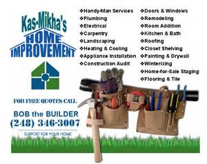 home repair business cards www chaldean org kasmikha home improvement southfield