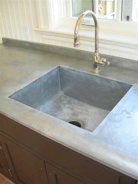 Integrated Sink Countertop by Zinc Speaks In San Francisco Design Mio Metals Inc Prlog