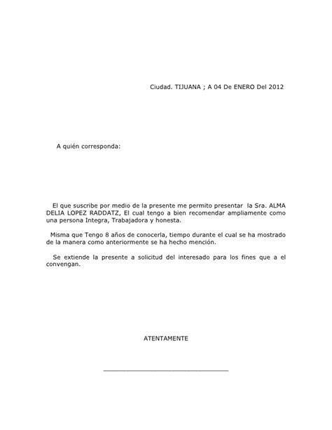 formato referencias personales newhairstylesformen2014 com formato de carta de recomendacion