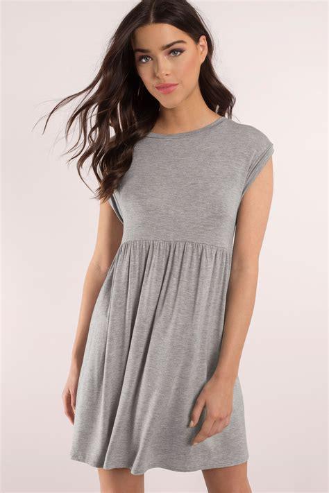 Dress Babydoll grey dress grey dress babydoll