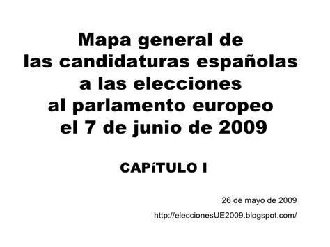 Candidaturas Presentadas Para Las Elecciones Al Parlamento | elecciones parlamento europeo indice candidaturas