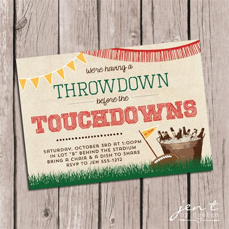 Come With Me Tailgate Ae Invites by Tailgate Invitations Jen T By Design